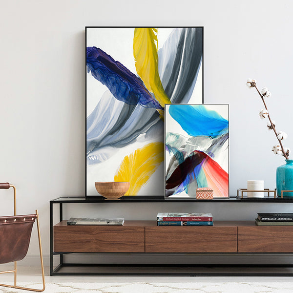Abstract Colorful Feather Canvas Wall Art Painting For Living Room Bedroom or Home Decor