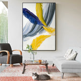Abstract Colorful Feather Canvas Wall Art Painting For Living Room Bedroom or Home Decor - Best Room Tapestry