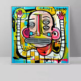 Graffiti Street Abstract Colourful Canvas Painting for Wall Art - Best Room Tapestry