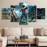 Jump Force Dragon Ball Goku Naruto Canvas Paintings for Living Room Wall Decor - Best Room Tapestry