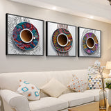 Coffee House Wall Art Canvas for Cafe Restaurant Kitchen - Best Room Tapestry
