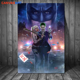 Joker and Harley Quinn Canvas for Wall Art - Best Room Tapestry