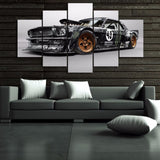 HD Car Painting Canvas 5 Pieces Ford Mustang GTR Modern Canvas for Home Decor or Living Room - Best Room Tapestry
