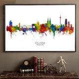 Berlin Cologne Frankfurt Hamburg Munich Germany City Landscape Map Art Canvas for Living Room Wall Art - Best Room Tapestry