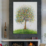Hand Painted Abstract Tree Oil Canvas Modern Art For Living Room Home Decoration - Best Room Tapestry
