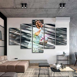 5 Pieces Paris Famous Player Neymar Posters Canvas Paintings Brazil Football Stars Wall Art for Kids Room Decor - Best Room Tapestry