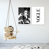 Vogue Black and White Poster Canvas Wall Art For Living Room And Home Decoration - Best Room Tapestry
