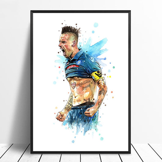 Marek Hamsik Napoli Football Star Poster Wall Art for Home Decor or Wall Decor - Best Room Tapestry