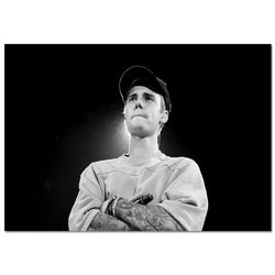 Justin Bieber Canvas Painting Poster for Home Decor Cloth Wall Art - Best Room Tapestry