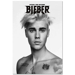 Justin Bieber Canvas Painting Poster for Home Decor Cloth Wall Art