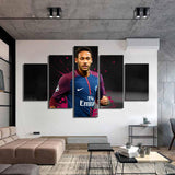 5 Pieces Paris Saint-Germain Neymar Posters Canvas Paintings Football Stars Wall Art Sports Print Wall Picture for Kids Home Decor - Best Room Tapestry