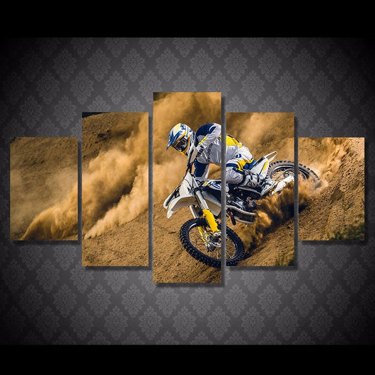 5 Piece Set HD Motocross Sports Canvas for Wall Art or Room Decor - Best Room Tapestry