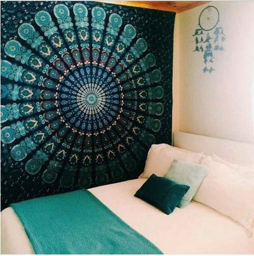 Bohemian Green Home Tapestry - Best Room Tapestry