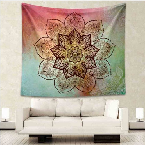 Colorful Lotus Tapestry - Best Room Tapestry