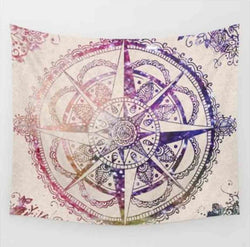 Bohemian Abstract Compass Tapestry - Best Room Tapestry