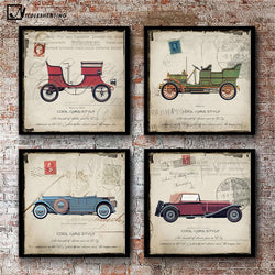 Vintage Classic Cars Art Canvas Modern Home Living Room Wall Decoration - Best Room Tapestry