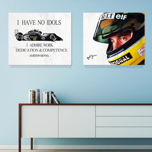 F1 AYRTON SENNA Canvas Art for Home Decor and Living Room - Best Room Tapestry