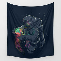 Colorful Astronaut Tapestry - Best Room Tapestry