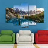 5 Pieces Canvas of Moraine Lake And Mountain For Home Decoration - Best Room Tapestry