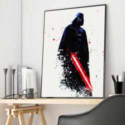 Watercolor Darth Vader Star Wars Canvas Posters for Living Room or Home Decor - Best Room Tapestry