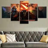 5 Panel DotA 2 Fantasy Pudge Canvas Painting for Home Decor or Living Room - Best Room Tapestry