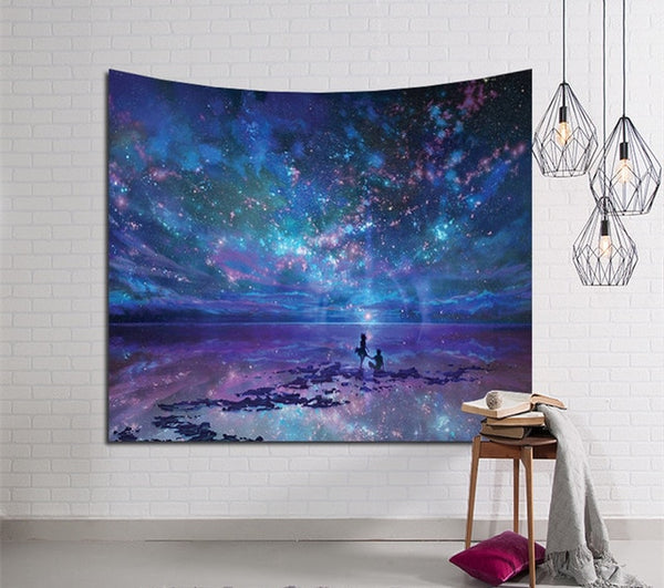 Romantic Galaxy Tapestry