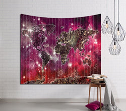 Shinning World Map Tapestry