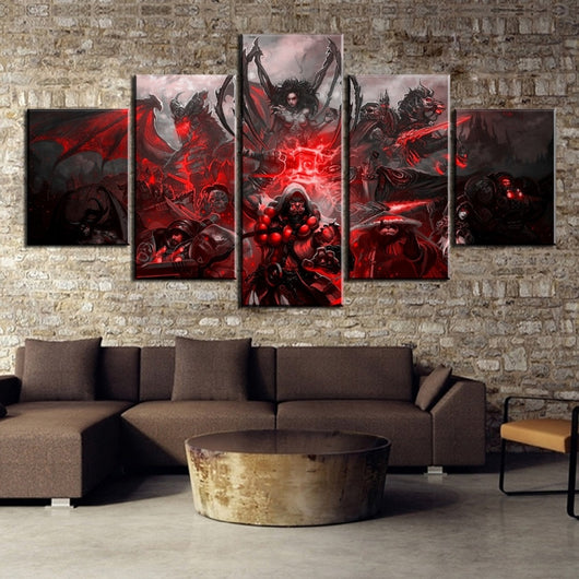 5 Piece Warcraft Game Painting Canvas Art Decoration for Living Room - Best Room Tapestry