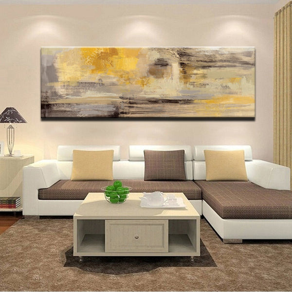 Golden Yellow Wall Art Canvas For Living Room or Home Decor - Best Room Tapestry
