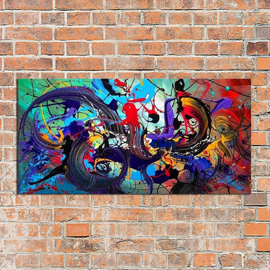 100% Handmade Abstract Canvas for Wall Decoration - Best Room Tapestry
