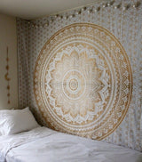 Gold & White Tapestry - Bohemian Style - Best Room Tapestry