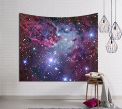 Sparkling Galaxies Tapestry - Best Room Tapestry