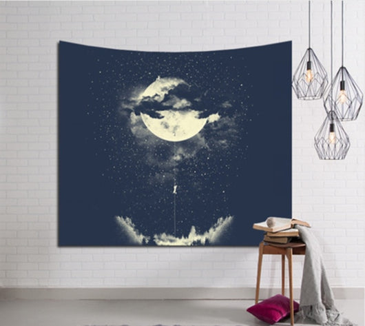 Climbing Moon Tapestry - Best Room Tapestry