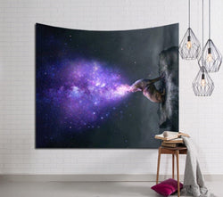 Purple Flame Stars Tapestry
