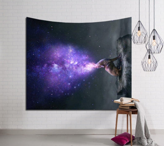 Purple Flame Stars Tapestry - Best Room Tapestry