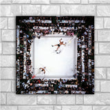Muhammed Ali vs Sonny Liston Art Silk Fabric Canvas for Living Room Wall Decor - Best Room Tapestry