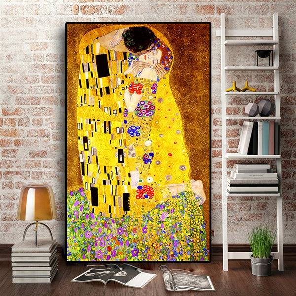 Classic Artist Kiss Abstract Oil Painting Canvas For Living Room - Best Room Tapestry