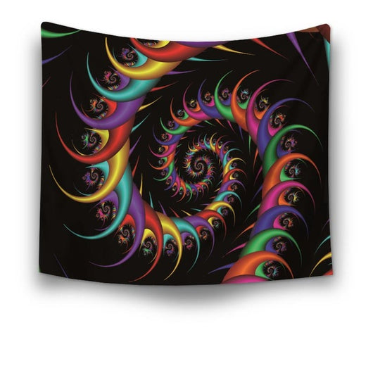 Lucky Spiral Abstract Tapestry - Best Room Tapestry