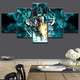 5 Pieces Cartoon Dragon Ball Canvas for Wall Art and Home Decor - Best Room Tapestry