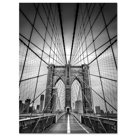 Scandinavian Painting Canvas Black And White New York Brooklyn Bridge Posters Wall Art For Living Room Decoration - Best Room Tapestry