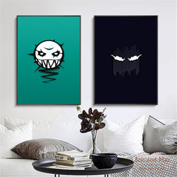 Minimalist Rainbow Six Siege Logo Canvas Art for Home Decor or Bedroom Wall