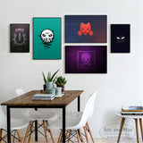 Minimalist Rainbow Six Siege Logo Canvas Art for Home Decor or Bedroom Wall - Best Room Tapestry