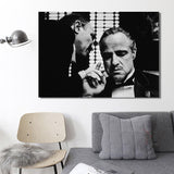 Modern Wall Art Canvas of Marlon Brando Godfather for Living Room Home Decor - Best Room Tapestry