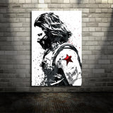 Winter Soldier Marvel Movie Canvas Poster Wall Art for Kids Decor or Home Decor - Best Room Tapestry