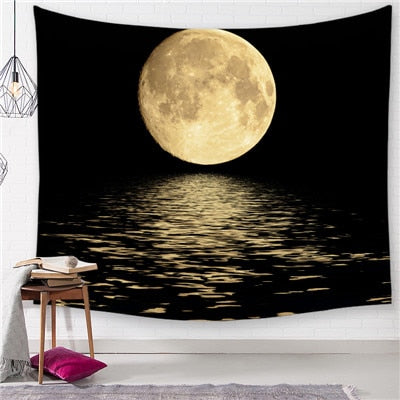 Glowing Moon Romantic Tapestry - Best Room Tapestry