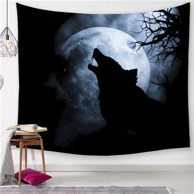 Wolf and Moon Mandala Tapestry - Best Room Tapestry