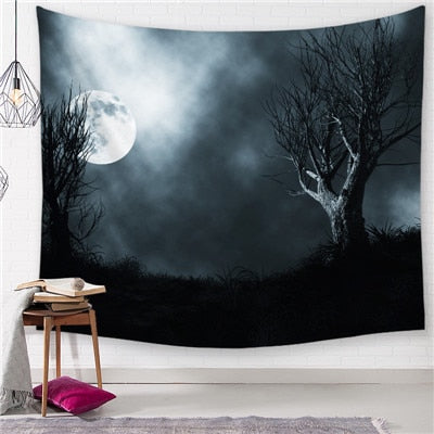 Dark Night Rise Tapestry - Best Room Tapestry