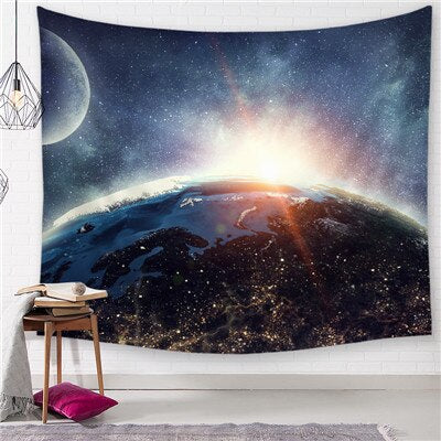 Earth Rise Tapestry - Best Room Tapestry