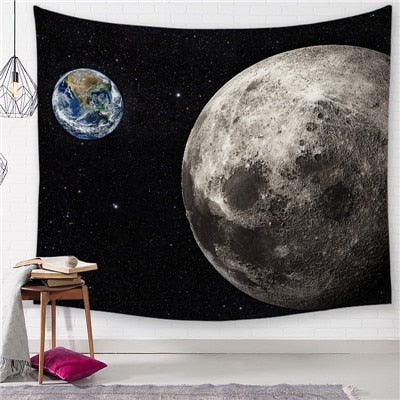 Grounded Satellite Space Tapestry - Best Room Tapestry