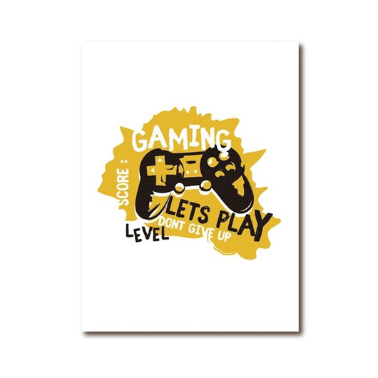 Joypad Gaming Illustration Poster Boys Wall Art Canvas for Kids Room Wall Decor - Best Room Tapestry